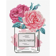 Pre-printed cross stitch kit Rose Chic - Needleart World