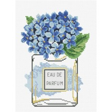 Pre-printed cross stitch kit Hydrangea Bloom - Needleart World