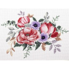 Pre-printed cross stitch kit Elegant Bouquet - Needleart World