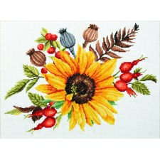 Pre-printed cross stitch kit Autumn Bouquet - Needleart World