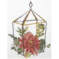 Pre-printed cross stitch kit Succulent Garden 2 - Needleart World