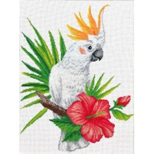 Pre-printed cross stitch kit Cockatoo call - Needleart World