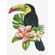 Pre-printed cross stitch kit Toucan look out - Needleart World