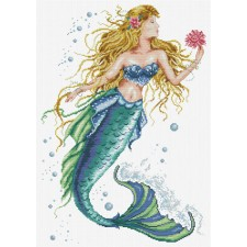 Pre-printed cross stitch kit Mermaid Wish - Needleart World