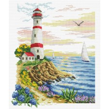 Pre-printed cross stitch kit Lighthouse Cape - Needleart World