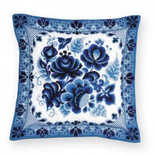 Cross stitch kit Cushion/Panel Gzhel Painting - RIOLIS