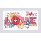 Cross stitch kit Love