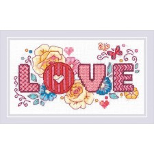 Cross stitch kit Love