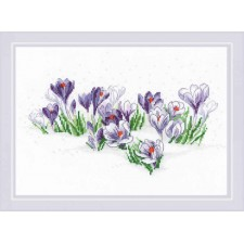 Cross stitch kit Crocuses under the Snow