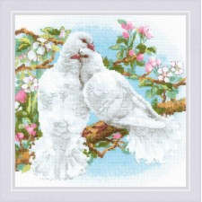 Cross stitch kit White Doves - RIOLIS