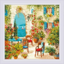 Cross stitch kit Southern Courtyard