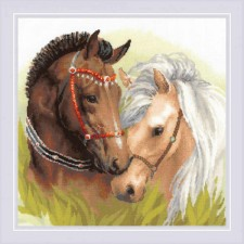 Cross stitch kit Pair of Horses  - RIOLIS