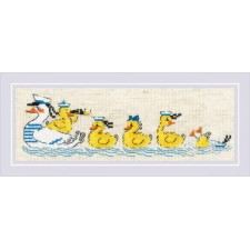 Cross Stitch Kit Over the Waves