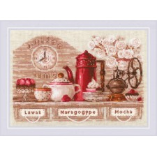 Cross stitch kit Coffee Time