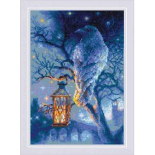 Cross stitch kit Wise Raven - RIOLIS