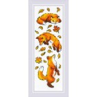 Cross stitch kit Foxes in the Leaves