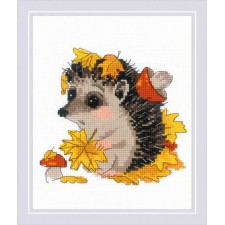 Cross stitch kit The Leaf Gatherer - RIOLIS