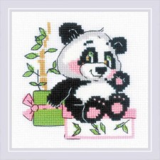 Cross stitch kit Panda Gift - RIOLIS