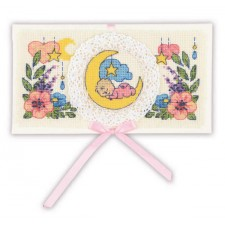 Cross stitch kit Card Congratulations on the Newborn - RIOLIS