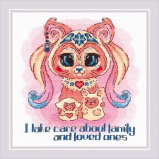 Cross stitch kit Good Souls - Beauty  - RIOLIS