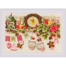 Cross stitch kit Christmas Shelf - RIOLIS