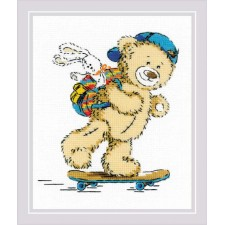 Cross stitch kit Teddy Bear Holiday - RIOLIS