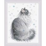 Cross stitch kit Snowy Meow - RIOLIS