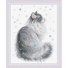 Cross stitch kit Snowy Meow - RIOLIS
