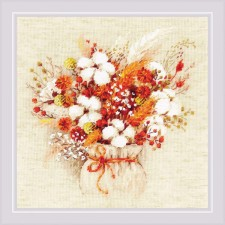 Cross stitch kit Bouquet with Lagurus and Cotton - RIOLIS
