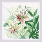 Cross stitch kit White Lilies - RIOLIS