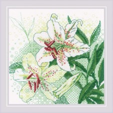 Cross stitch kit White Lilies - RIOLIS