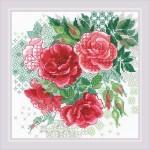Cross stitch kit Red Rose Hip - RIOLIS