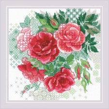 Cross stitch kit Red Rose Hip - RIOLIS