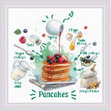 Cross stitch kit Recipe - Pancakes - RIOLIS