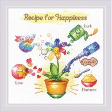 Cross stitch kit Recipe for Happiness - RIOLIS