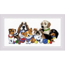 Cross stitch kit Dog Show - RIOLIS