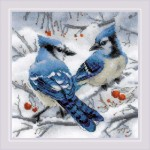 Cross stitch kit Blue Jays - RIOLIS