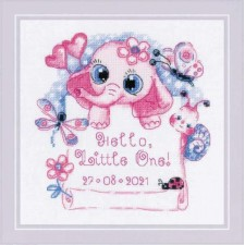 Cross stitch kit Hello, Little One! (for Girl) - RIOLIS