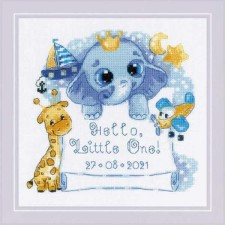 Cross stitch kit Hello, Little One! (for Boy)  - RIOLIS