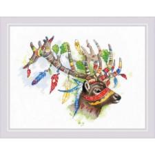 Cross stitch kit Noble Deer - RIOLIS