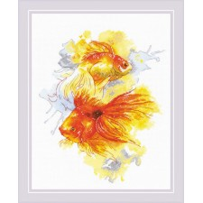 Cross stitch kit Goldfishes - RIOLIS