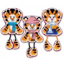 Cross stitch kit Magnets Tiger Cubs - RIOLIS