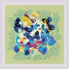 Cross stitch kit Bright Butterflies - RIOLIS