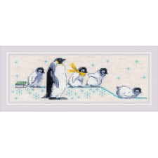 Cross stitch kit Penguins - RIOLIS