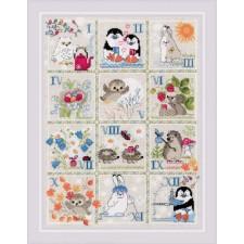 Cross stitch kit Forest Calendar - RIOLIS