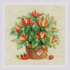 Cross stitch kit Pepper in a Pot - RIOLIS