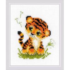 Cross stitch kit Baby Tiger - RIOLIS