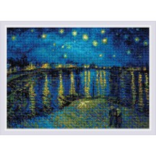 Starry Night Over the Rhone after Van Gogh's Painting - RIOLIS