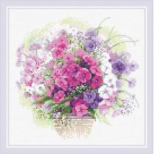 Diamond Mosaic Watercolor Phlox - RIOLIS