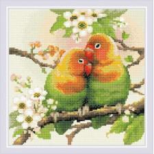 Diamond Mosaic Lovebirds - RIOLIS